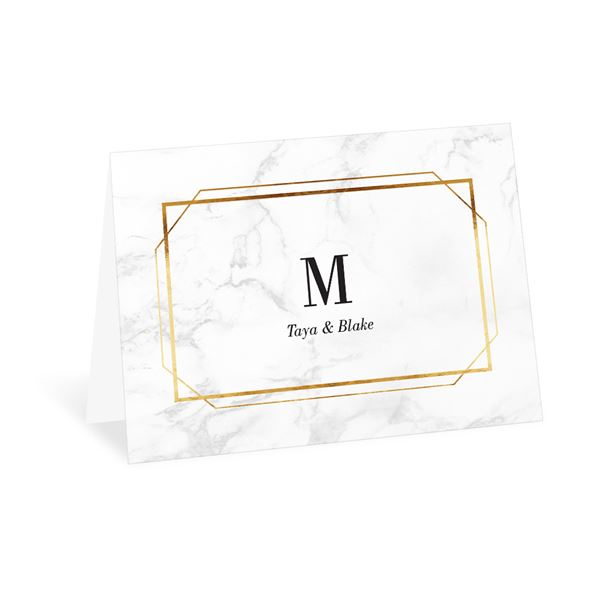 Gilded Marble Thank You Card