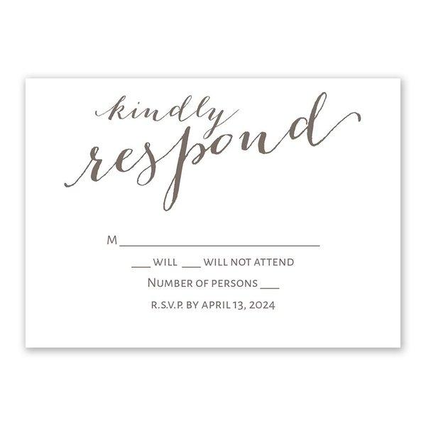 Simply Sweet Response Card