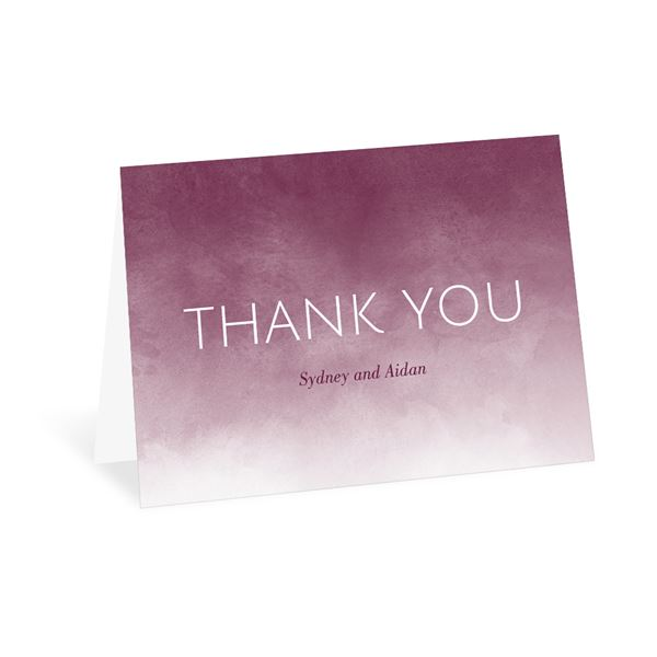 Watercolor Wash Thank You Card