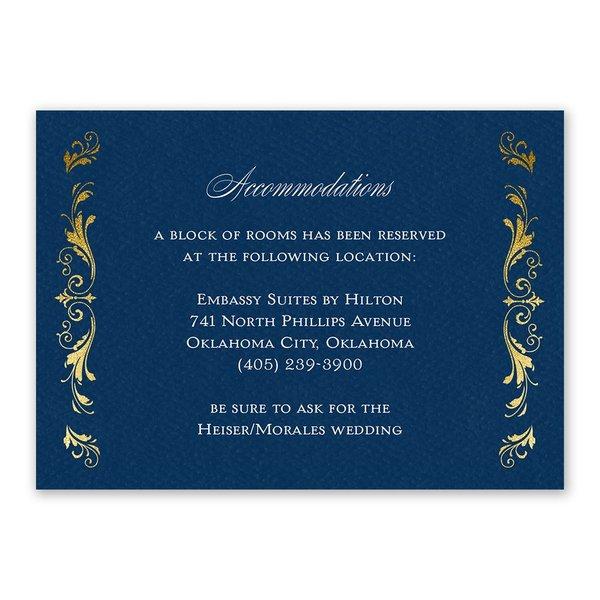 Majestic Monogram Information Card