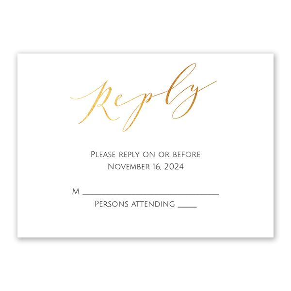 Vows Response Card
