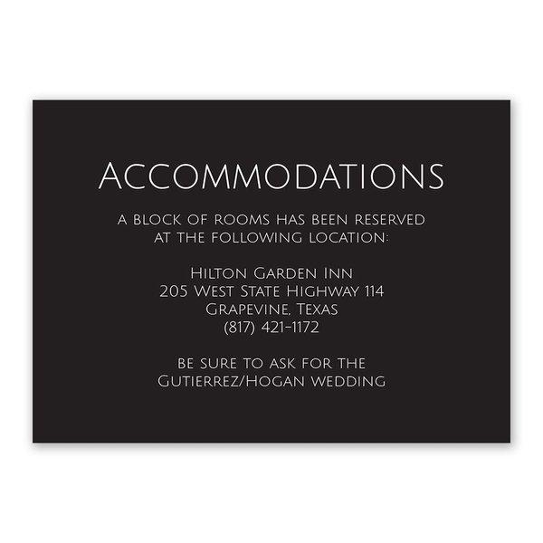 Vows Information Card