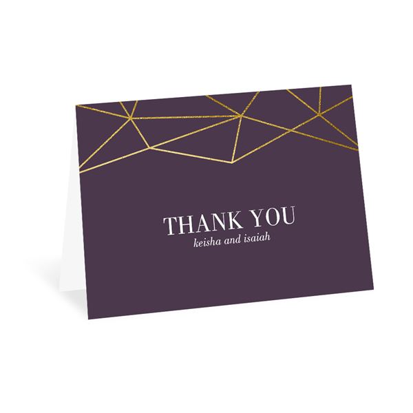 Golden Geo Thank You Card