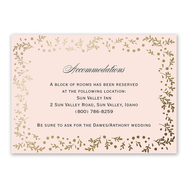 Eternal Love Information Card