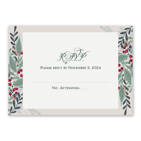 Sweet Mistletoe Response Card