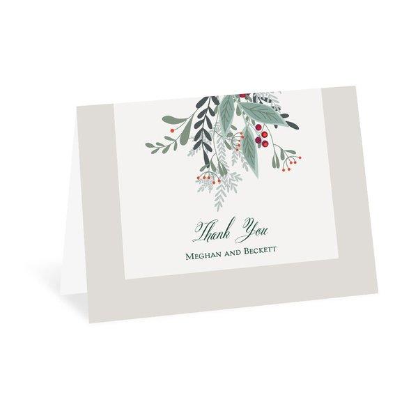 Sweet Mistletoe Thank You Card