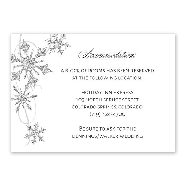 Silver Snowflakes Information Card
