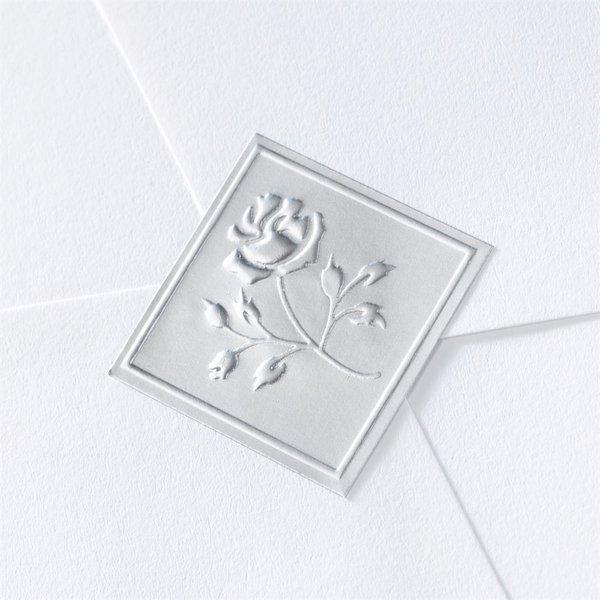 Blank Silver Embossed Rose Seal