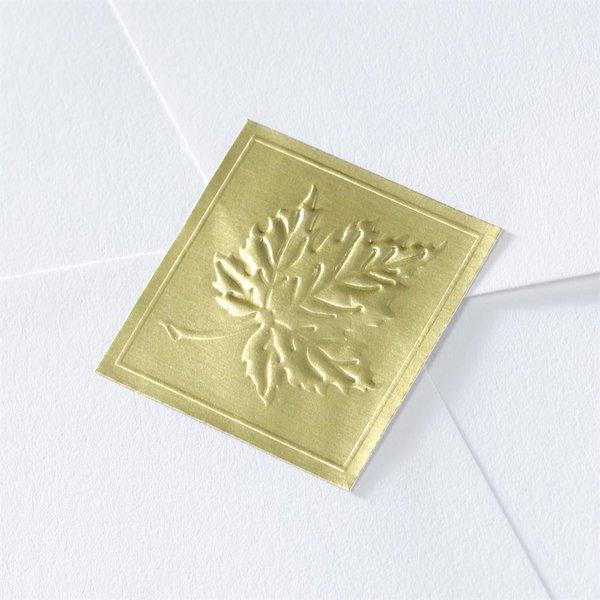 Blank Gold Embossed Leaf Wedding Seal