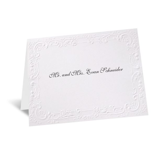 With a Flourish - White Note Card and Envelope