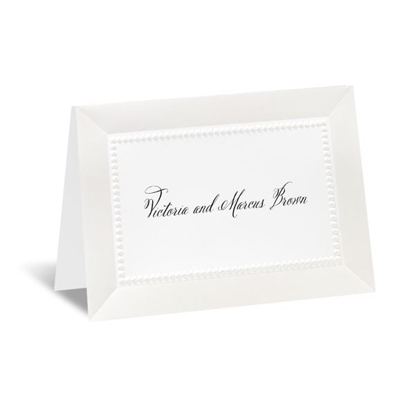 All Buttoned Up - White Note Card and Envelope