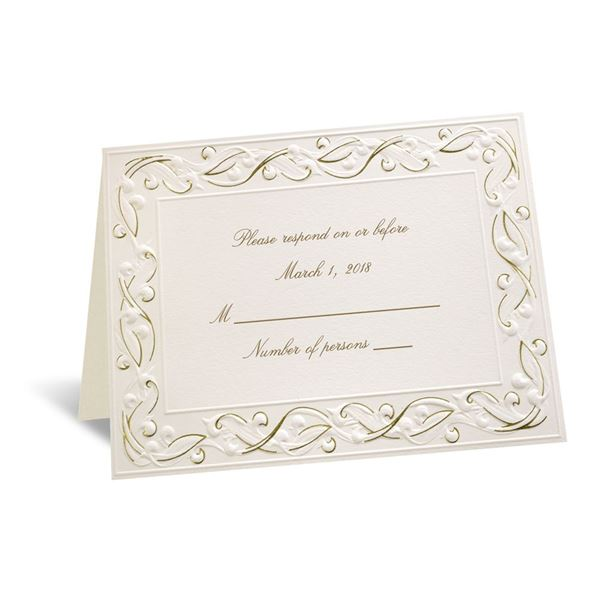 Gold Rush Respond Card and Envelope