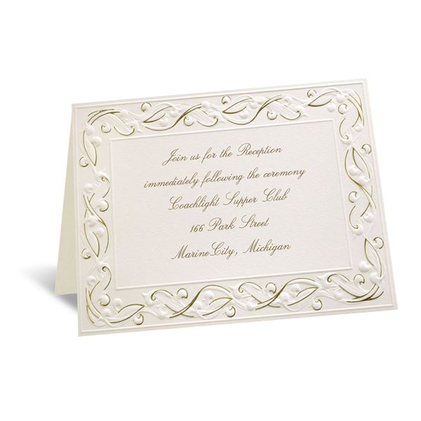 Gold Rush Reception Card