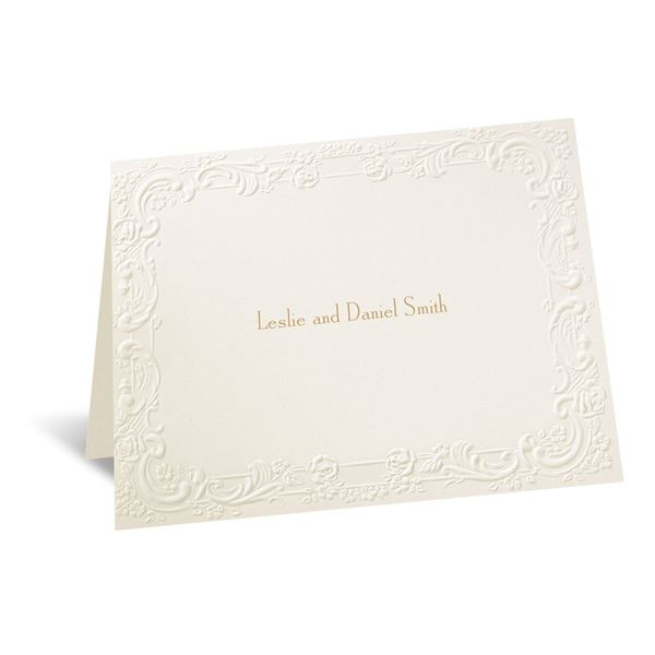 With a Flourish - Note Card and Envelope