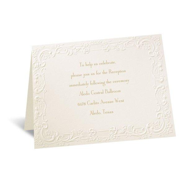 With a Flourish Ecru Reception Card
