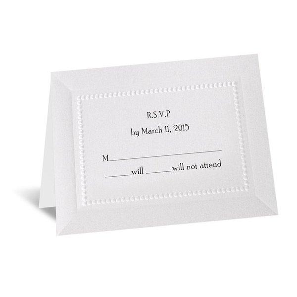 Splendid Shimmer Respond Card and Envelope