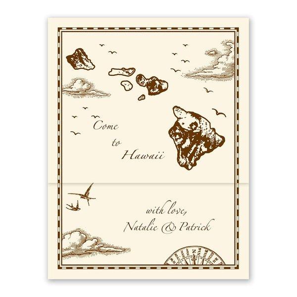 Hawaii Treasure Map Ecru ZFold Inv