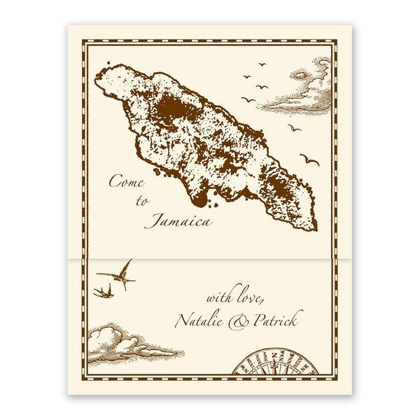 Jamaica Treasure Map Ecru ZFold Inv