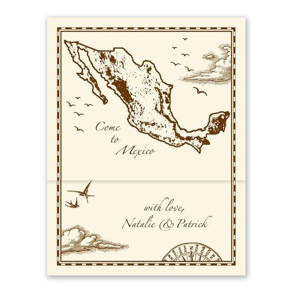 Mexico Treasure Map Ecru Zfold Inv