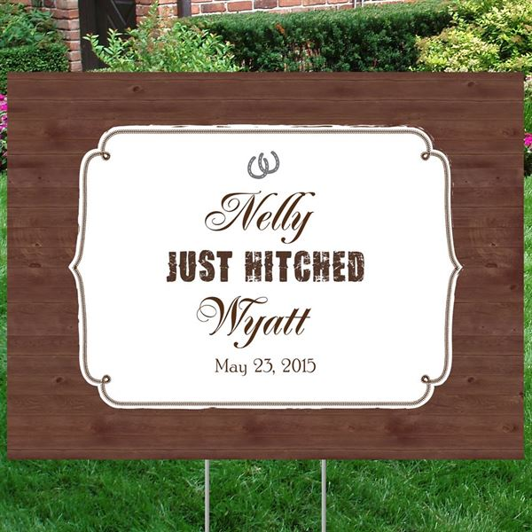 Just Hitched Yard Sign