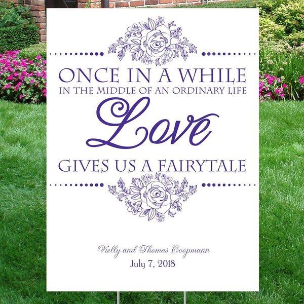 Fairy Tale Love Yard Sign