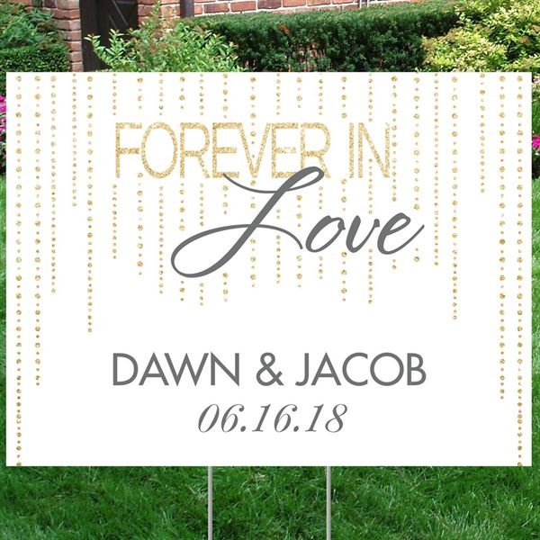 Forever Love Yard Sign