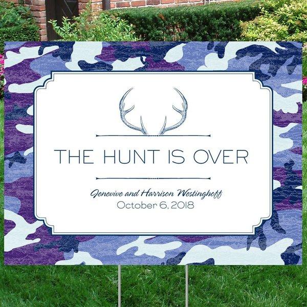 """Hunter""""s Choice - Navy - Yard Sign"""