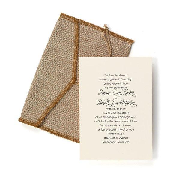 Burlap Pocket Invitation
