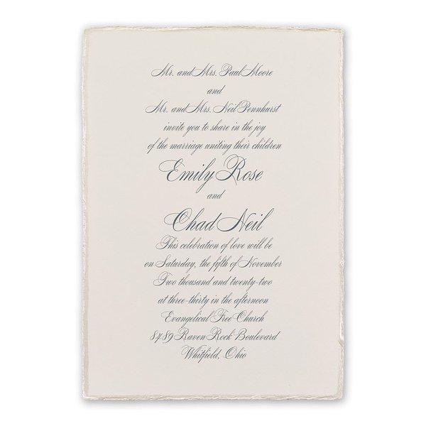 Pearl Trim Invitation