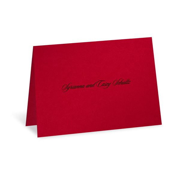 Dramatic Rose Black and Red note card and envelope