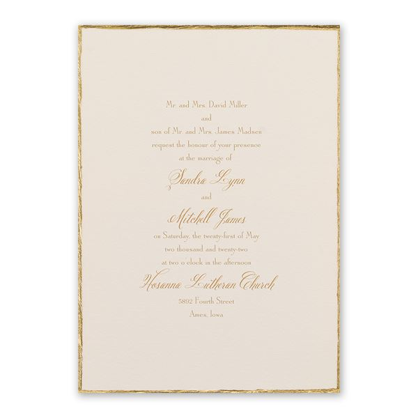Gold Trim Invitation
