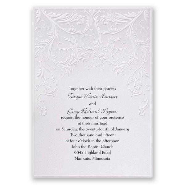 Shaded Grey Invitation