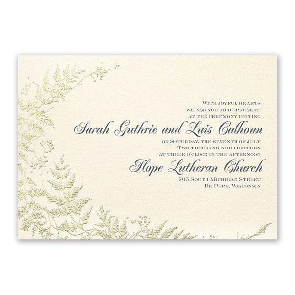 Ferns of Gold Invitation