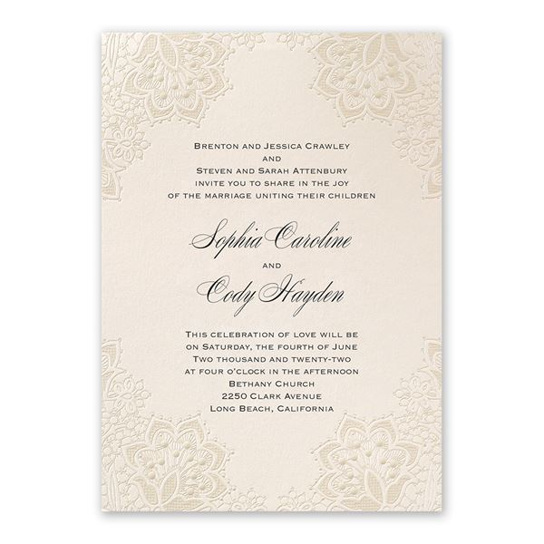 Mandala Lace Invitation