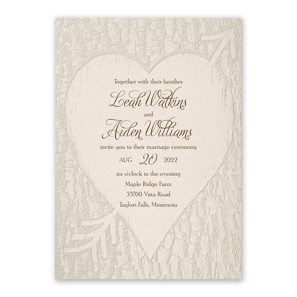 Carved Elegance Invitation