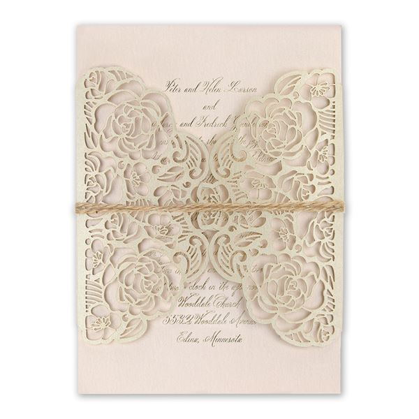 Entwined Foil and Laser Cut Invitation
