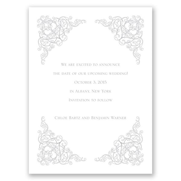 Vintage Vision Save the Date Card