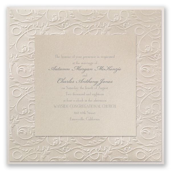 Vintage Filigree Invitation