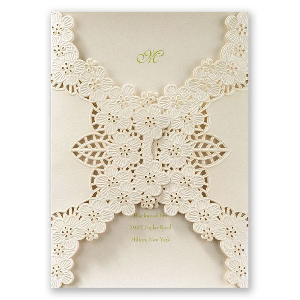 Abundant Beauty Laser Cut Invitation