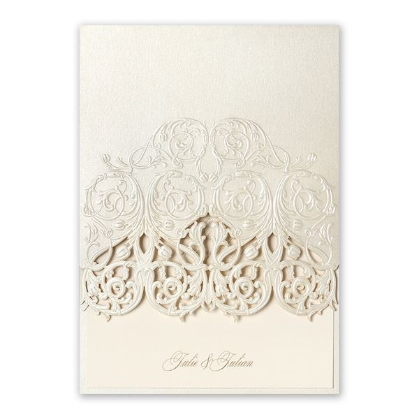 Luminous Filigree Laser Cut Invitation