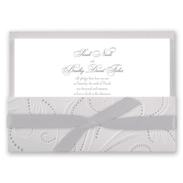 Silver Pearls Invitation