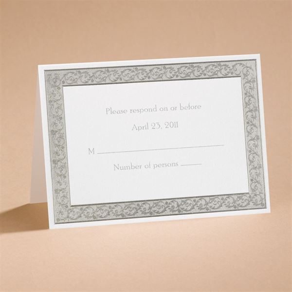 All That Shimmers Silver Response Card and Envelope