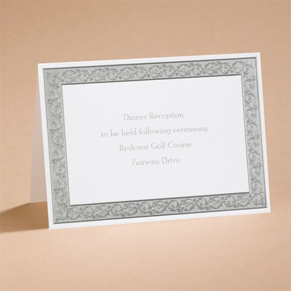 All That Shimmers Silver Reception Card