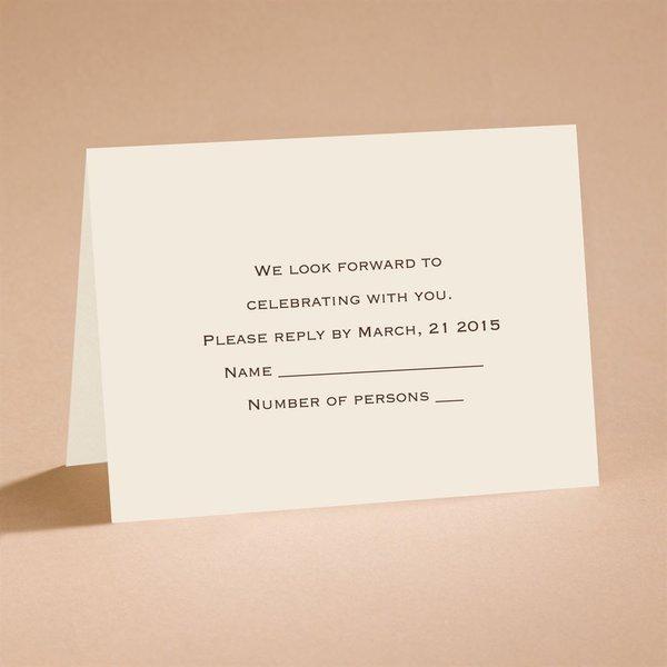 Ecru Shimmer Respond Card and Envelope