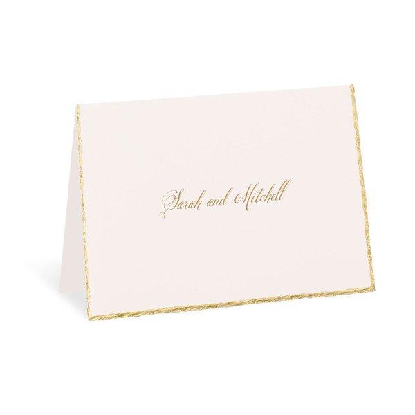 Gold Trim Thank You Card