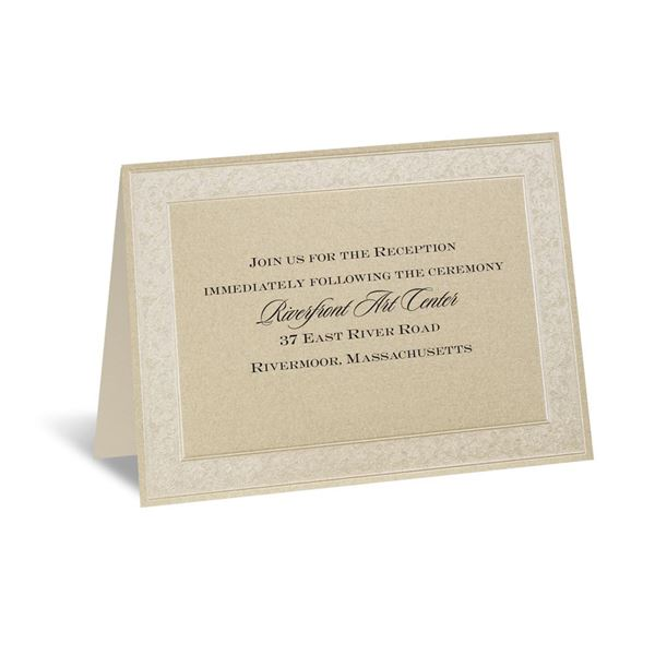 Framed in Luxury Reception Card