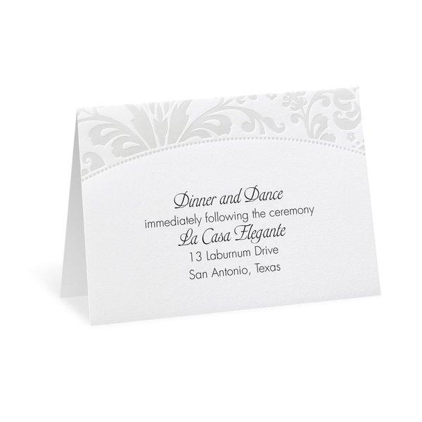 Pearl Flourish Reception Card