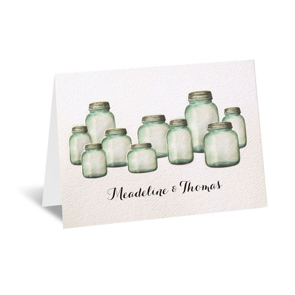 Country Canning Jar Thank You Card