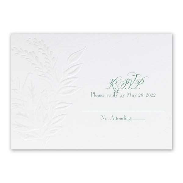 Glistening Wreath Response Card and Envelope
