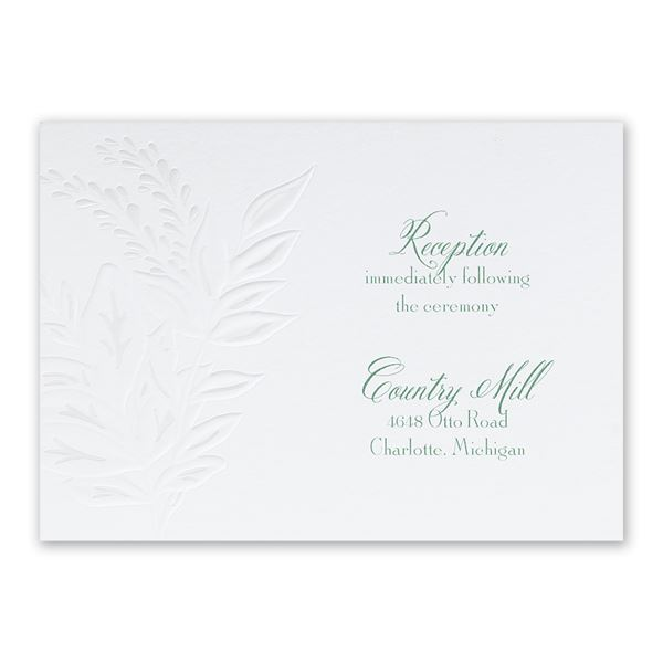Glistening Wreath Reception Card